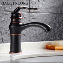 Antique Brass Basin Faucet Vanity Vessel Deck Mount Sinks Mixer Bathroom Bath Tap