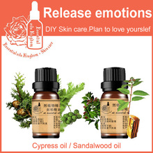 100% Pure Plant Essential Oil Cypress / Sandalwood Convergence Pores Improve Red Blood Release emotions SET Shrink pores