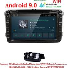 "Neue! 8 ""Android 9.0 Auto GPS Navigation für VW Volkswagen SKODA GOLF 5 Golf 6 POLO PASSAT B5 B6 JETTA TIGUAN dvd player BT RDS 4G(China)"