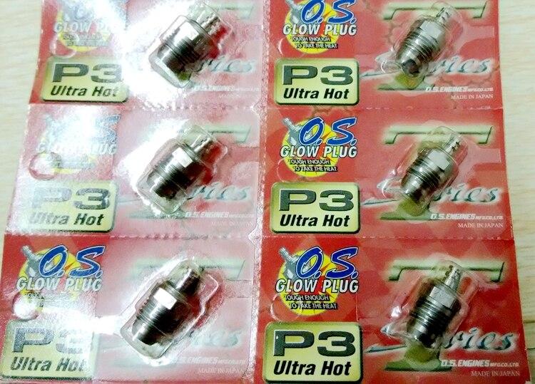 100 Original OS O S P3 Glow Plug 6 pcs lot OS Ultra Hot P3 Glow