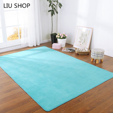 LIU Thick coral velvet carpeted floor living room sofa cushion bathroom bedroom windows kitchen mats yoga rug can be customized