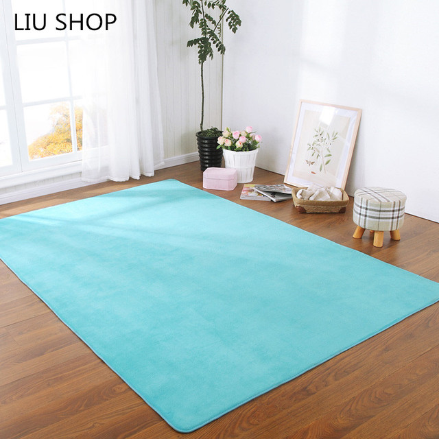 LIU Thick Coral Velvet Carpeted Floor Living Room Sofa Cushion Bathroom  Bedroom Windows Kitchen Mats Yoga