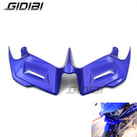 Motorcycle ABS Blue R3 R25 Front Fairing Aerodynamic Winglets For YAMAHA YZF R3 YZF R25 YZF R3 R25 Front Wing