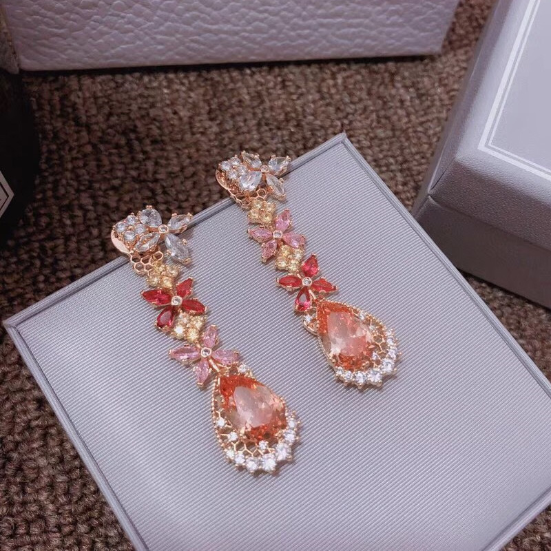 Designer Fashion Copper Jewelry 3A Cubic Zirconia Party Earring