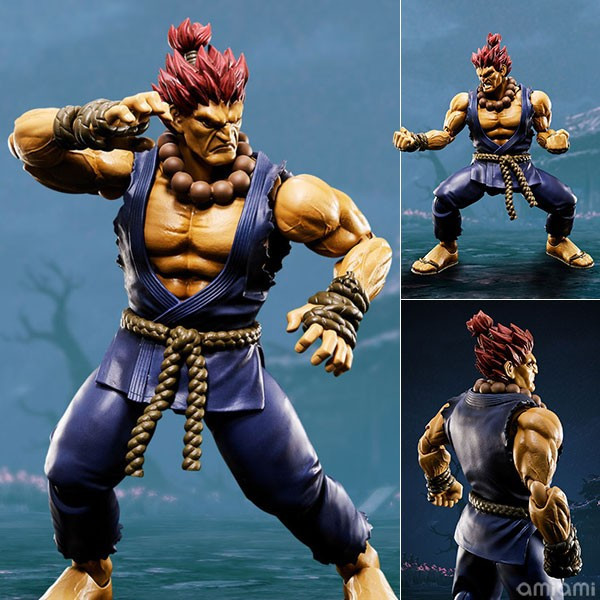 SHF Street Fighter Akuma Gouki Action FIgure Collectible Model Kid Toys Brinquedos 16CM In Box