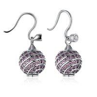 Klassische 925 Silber Weibliche Ohrringe Eardrop Hochzeit Dekorative Schmuck Ornament Schickes Accessoire Earbob Dame Ohr-Ring