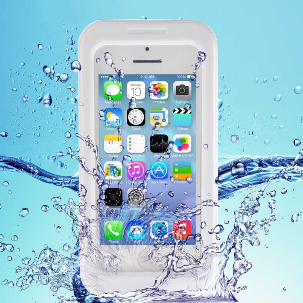 pretty nice ef6da 48638 US $6.99 5% OFF|For iPhone 5s 4s Waterproof Case Durable Dirt Shockproof  Diving Underwater Protective Cover With Strap For Apple iPhone5 5s 4-in ...