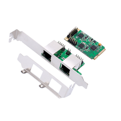 Mini PCIe 1/2 Port Gigabit Ethernet karta sieciowa dla Mini ITX mini PCI-e do RJ45 adapter 10/100 1000 Base-T kontroler LAN