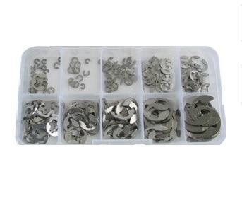 200pcs Stainless Steel E Clip Washer Assortment Kit 1 5 2