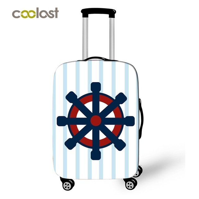 Fashion Boat Hook Travel Suitcase Protective Covers Luggage Protector For Man Woman Suitcase Accessories Elastic Bagage Cover 1