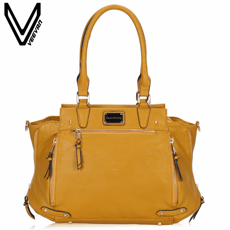 VEEVANV Brand Office Lady Tote Handbag Ladies Leather Shoulder Bag Fashion Women Handbags Crossbody Bag Female Messenger Bag New hot simple color lace crop sun top