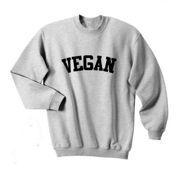 Sugarbaby Vegan Fashion Hipster Top Crewneck Sweatshirt Unisex Fashion Cute Jumper Long Sleeve Pullover High Quality Casual Tops
