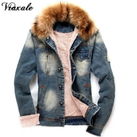 Men S Denim Clothing Jacket Men S Fall And Winter Clothes Men S Denim Jacket Fur