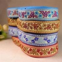 2016 New 2 5 Cm 20 Yards Handmade Flowers Retro Ethnic Style Embroidery Ribbon Laciness 4