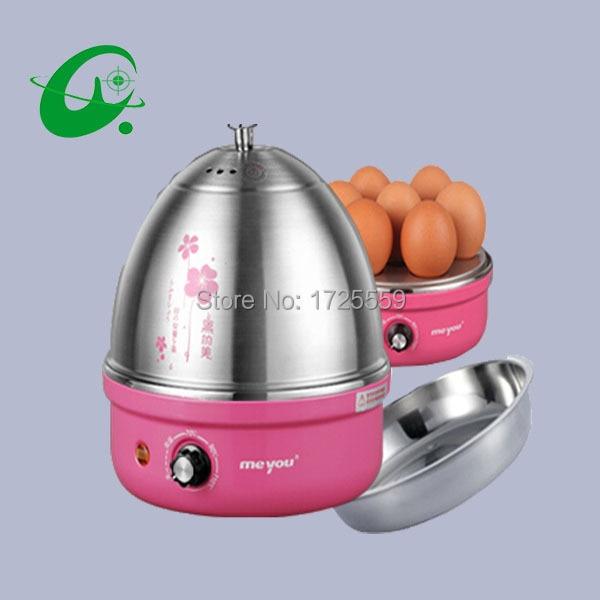 Stainless Steel Electric Egg Cooker Boiler Breakfast 7 Eggs Poacher /& Steamer US