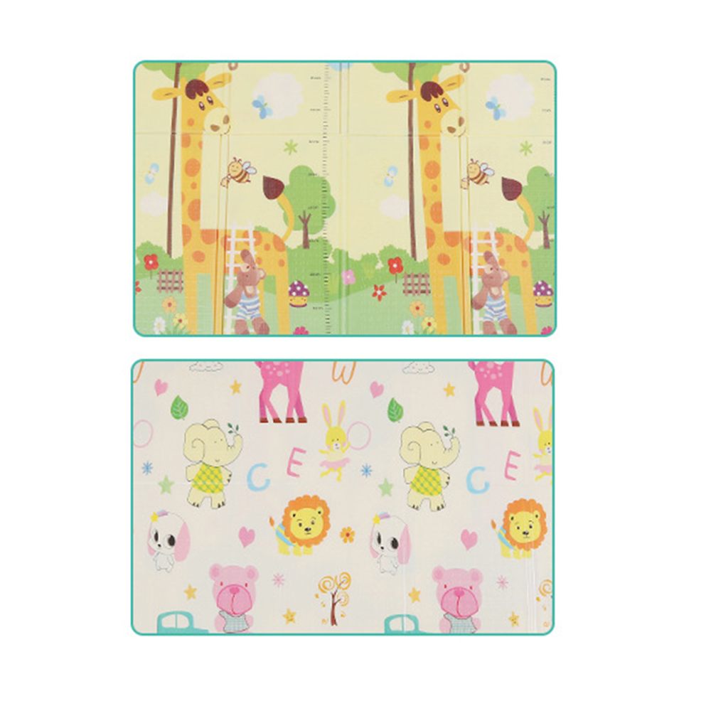 180 cm * 200 cm infantile bébé pliable jouer Double face tapis épaissi maison bébé chambre épissage enfant tapis d'escalade - 6