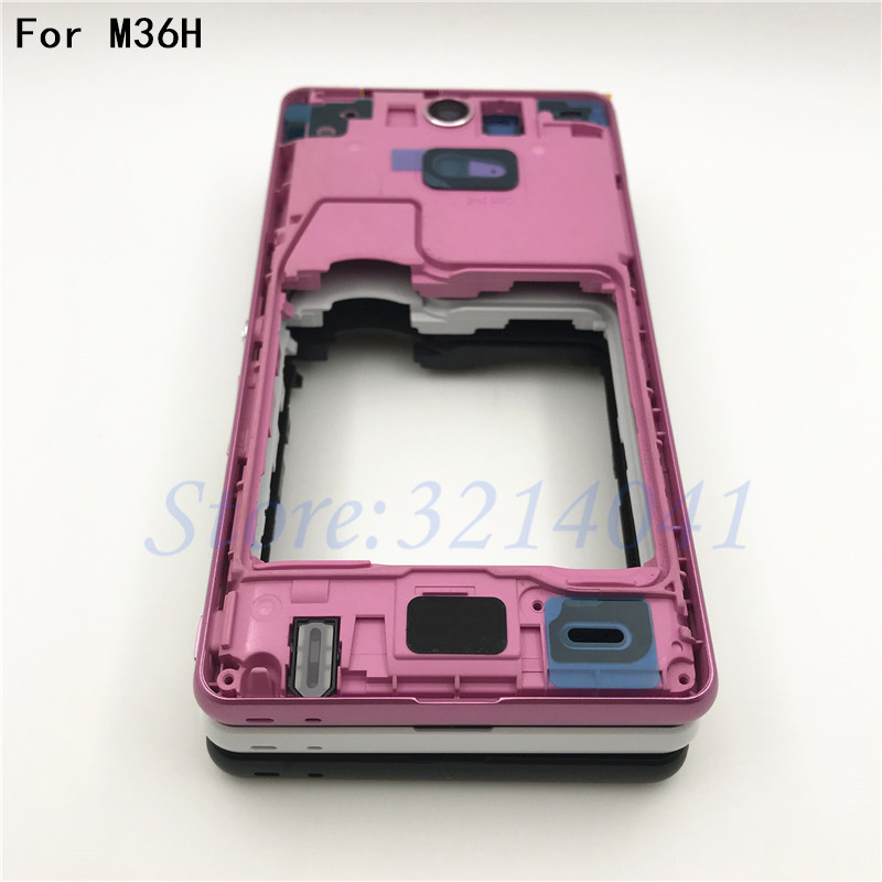 New For Sony Xperia ZR M36H C5502 C5503 Battery Cover Back Rear Door Housing Case +LCD Middle Chasis Frame Plate Replacement