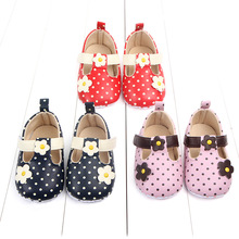 Spring and autumn new baby single shoes flowers soft bottom toddler newborn girl first walker