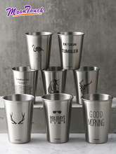 Stainless Steel  Coffee Cup Beer Glass Juice Mug Tea Kettle Couple Water Cold Drink Lemon Drinkware Bar Accessories