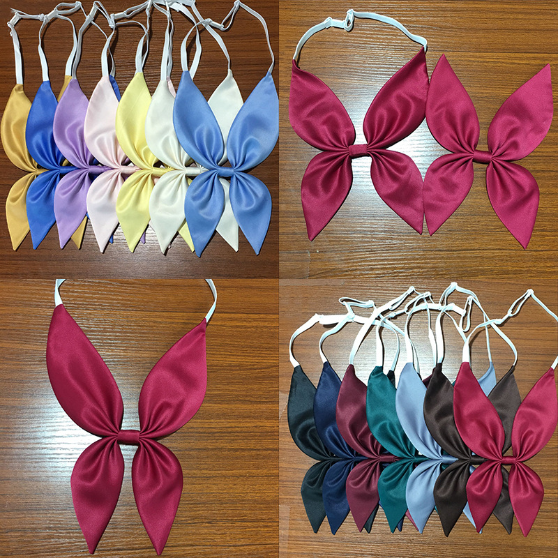 2019 New Goldfish Pre-tie Scarf Japanese School Girls Women's Solid Color Bow Tie Jk Uniform Students Necktie Cosplay 14 Colors