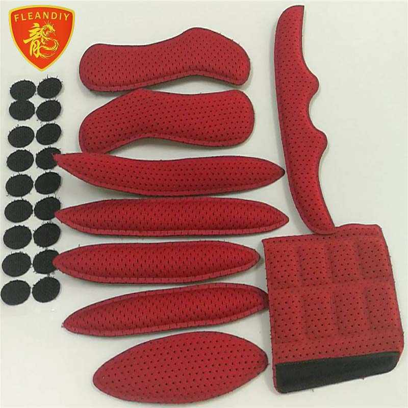 Helmet Padding Sponge Pad Bike Motorcycle Bicycle Replacement Pads Set with Net