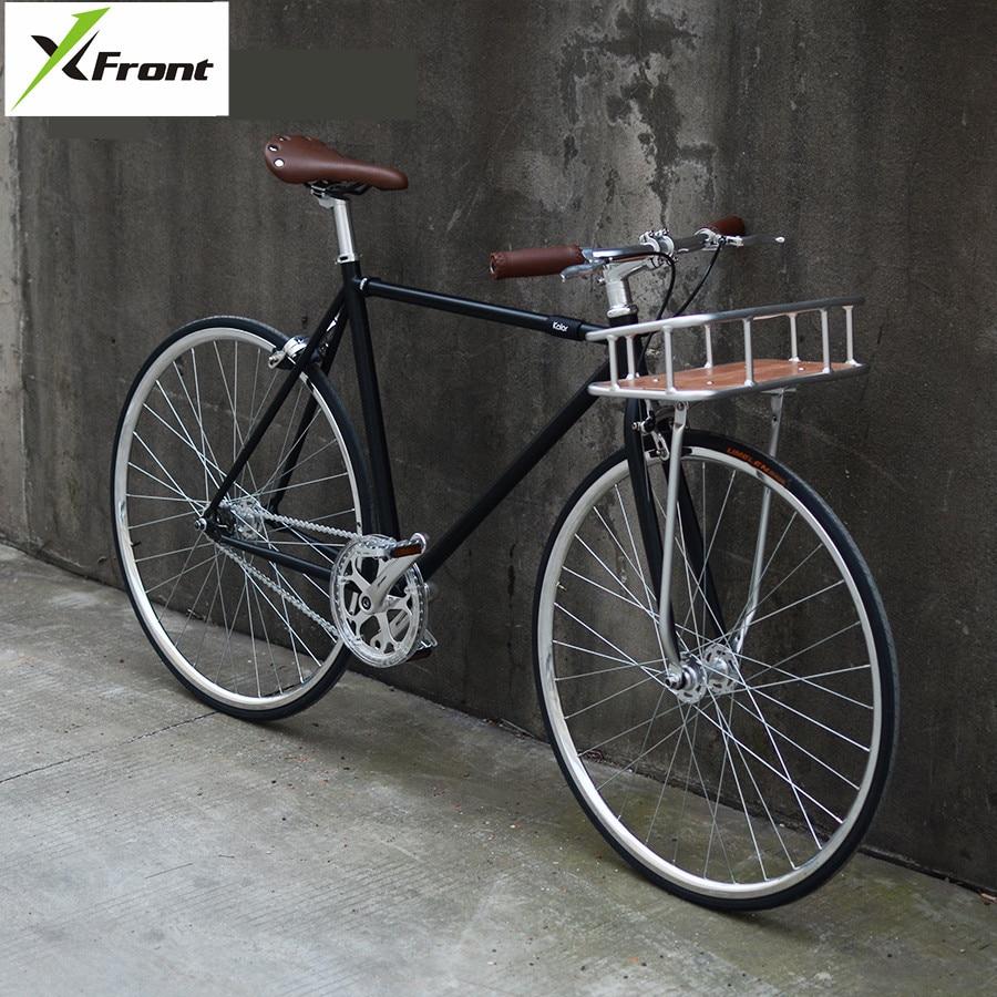 Retro Road Bike 700C Wheel Aluminum Alloy Basket Classic Street Sports Bicycle