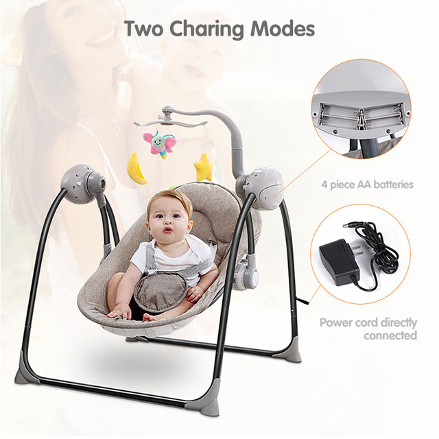 Baby Rocking Chair, Electric Baby Swing, Remote Control Cradle, Newborn Rocking Chair