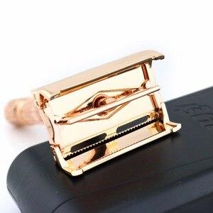 Безопасная бритва-бабочка, бритва с двойным краем, Золотая бритва с коробкой, BAILI BD177, 1 компл./лот, новинка