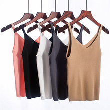 New summer shirt womens V-neck ladies camisole loose sleeveless short Slim vest women clothes 2019