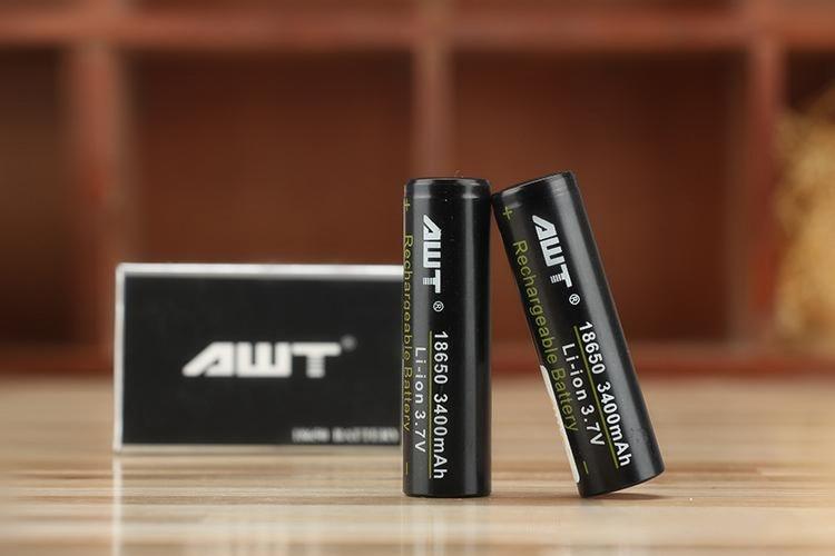4 PCS ICL AWT 18650 3.7 V 3400 mah 35A batterie noir peau rechargeable li-lon Vaporisateur cigarette Électronique les batteries d'alimentation