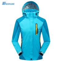 New arrival Outdoor Sport Outerwear Waterproof windstopper double layer Brand clothes For Camping hiking jacket women