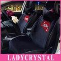 Ladycrystal Настраиваемые Горячие Губы Стайлинга Автомобилей Обивка Для Девушки Женщины Дамы Кристалл Алмаза Автокресло Обложка Салона
