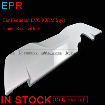 For Evolution EVO 9 JDM Style FRP Fiber Glass Under Rear Diffuser For Mitsubishi Fiberglass Bumpers  Body Kit