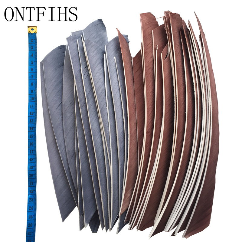 50pcs Multicolor Archery Fletches Full Length Real Turkey Feather For Hunting And Shooting