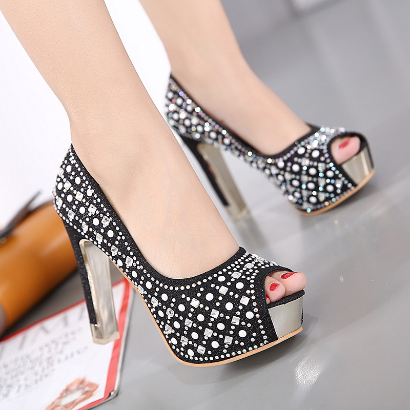 Platform Pumps Women Sexy Extremely High Heels Shoes Bridal Stiletto Red Ladies Wedding Party Shoes