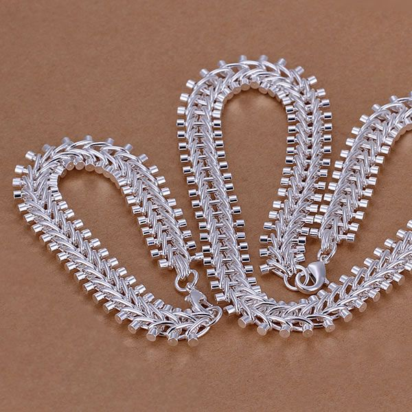 Original S042 Hot Sale Free Shipping Silver Fine Jewelry Sets,wholesale 925-sterling-silver Charms Fashion Fish Bone /acvaiuca Acoaitva Jewelry Sets & More Jewelry & Accessories