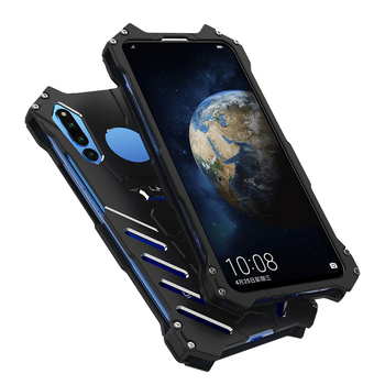 R-just For Huawei Honor V20 Batman Luxury Doom Heavy Duty Armor Metal Aluminum Cnc Phone Cases For Honor V20 image