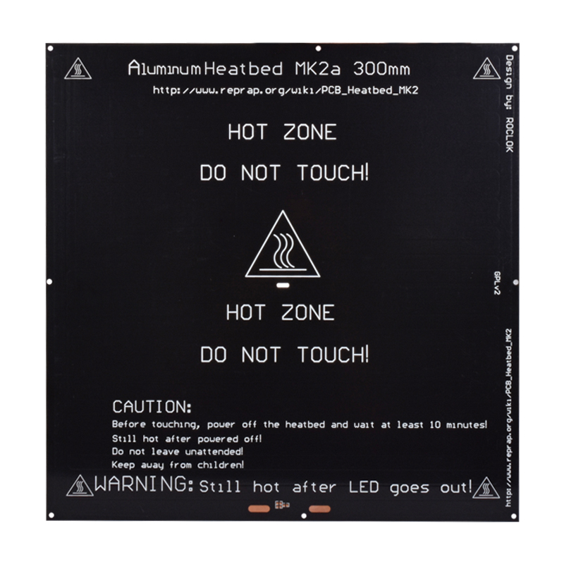 MK2A aluminum heatbed hot plate MK2A 300*300*3mm black 12V 24V for Mendel RepRap RAMPS 1.4 3d printer parts Heated Bed