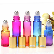 Travel gradient ball bottle color essential oil gradient color 10ml portable  empty perfume bottle gradient color jumper