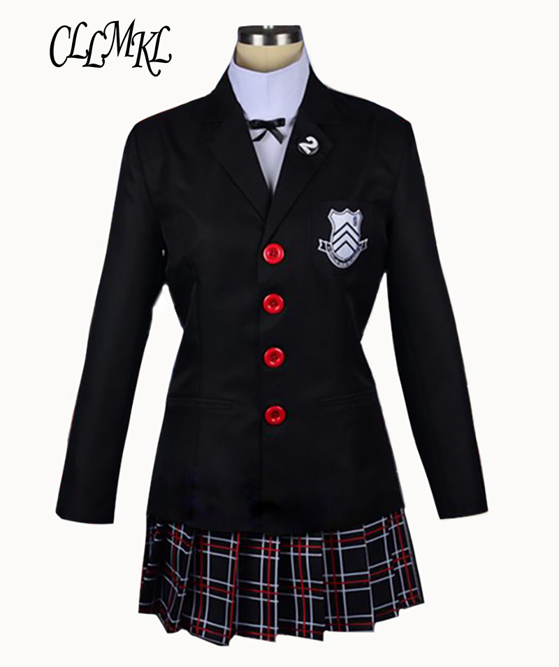 Halloween Dress Persona 5 Makoto Nijima Cosplay Costumes Women School Uniform For Girls