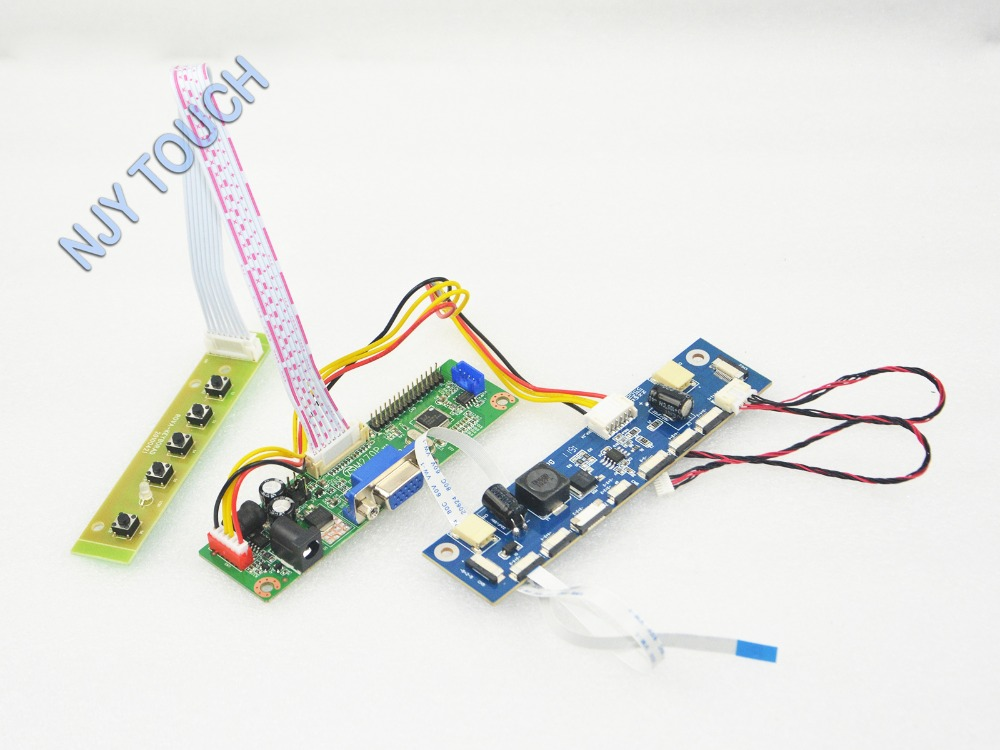 V M70A VGA Universal LCD Controller Board DIY Kit For CLAA185WA04 18 5 inch 1366x768 LED