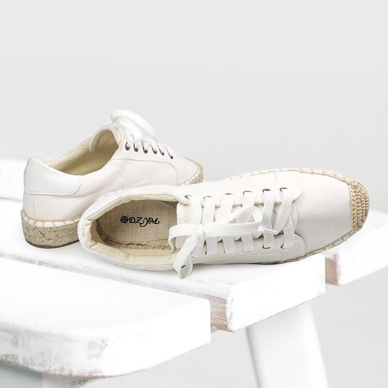 Chaussures à plate-forme pour femmes, espadrilles à lacets