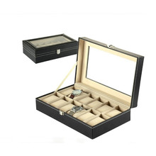 VOGVIGO PU Leather 12 Slots Wrist Watch Display Box Storage Holder Organizer Watch Case Jewelry Dispay Watch Box High Quality