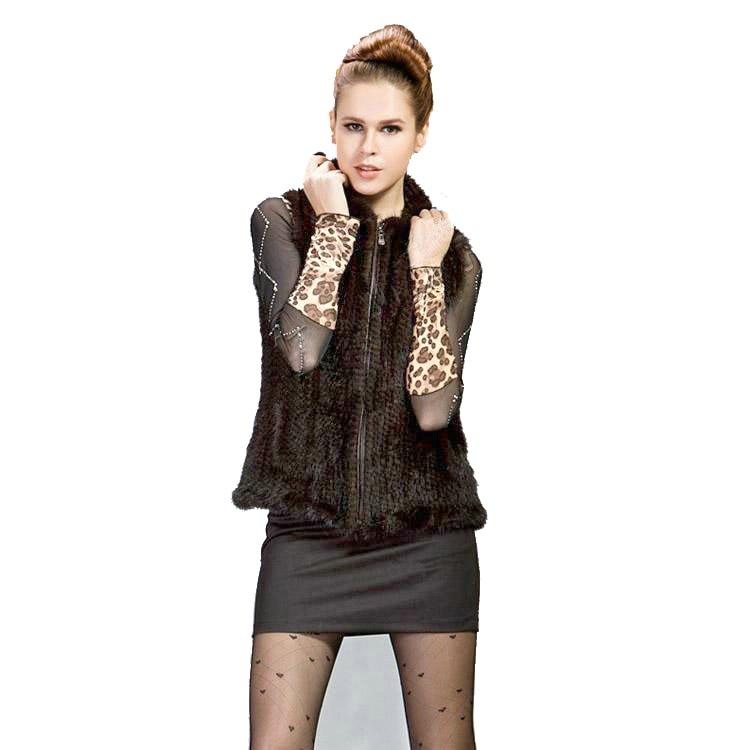 Новый натуральный вязаный норковый Меховой жилет с капюшоном, норковый меховой жилет, теплое зимнее меховое пальто