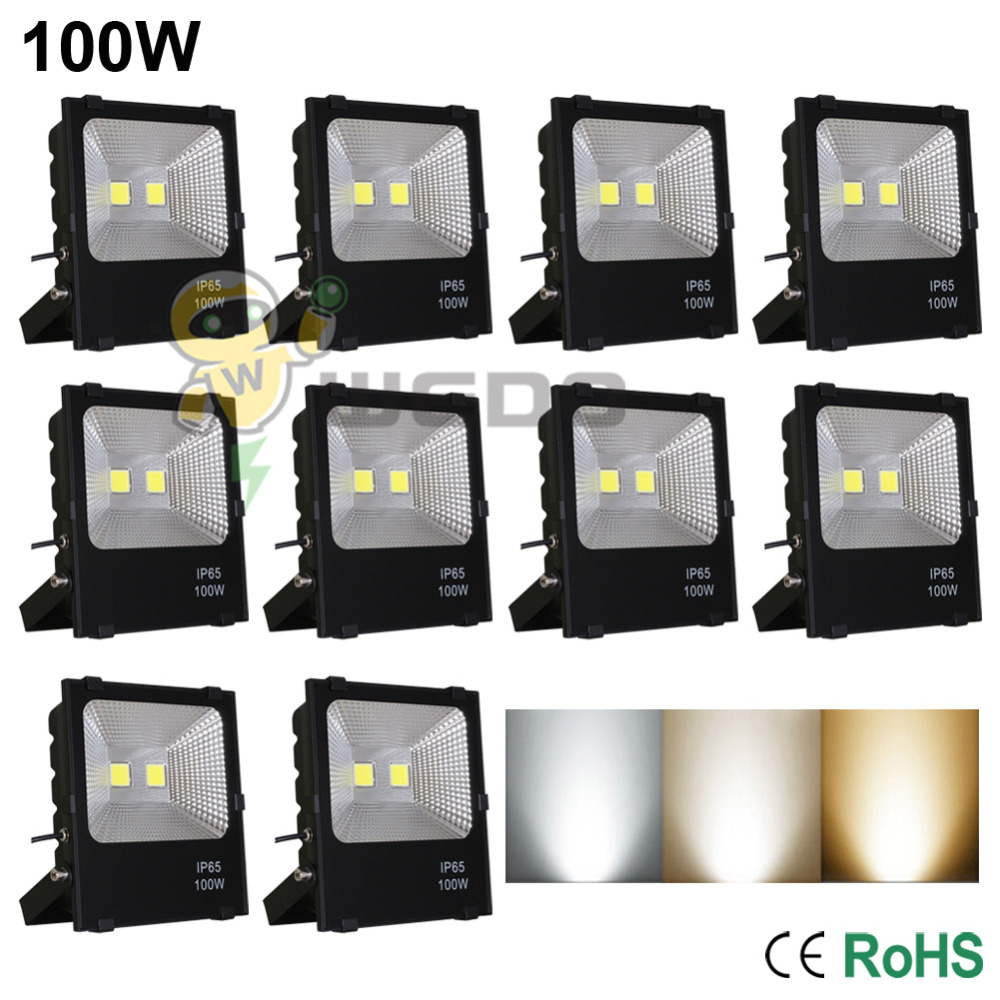 10 PCS 100W LED Flood Light Lamp Super Bright Outdoor Waterproof IP65 Non-Dimmable Cool White/Natural White/Warm White 85-265V