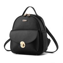 Купить с кэшбэком 2019 spring Women Backpack Designer high quality Leather Women Bag Fashion School Bags small Backpacks Travel Bags