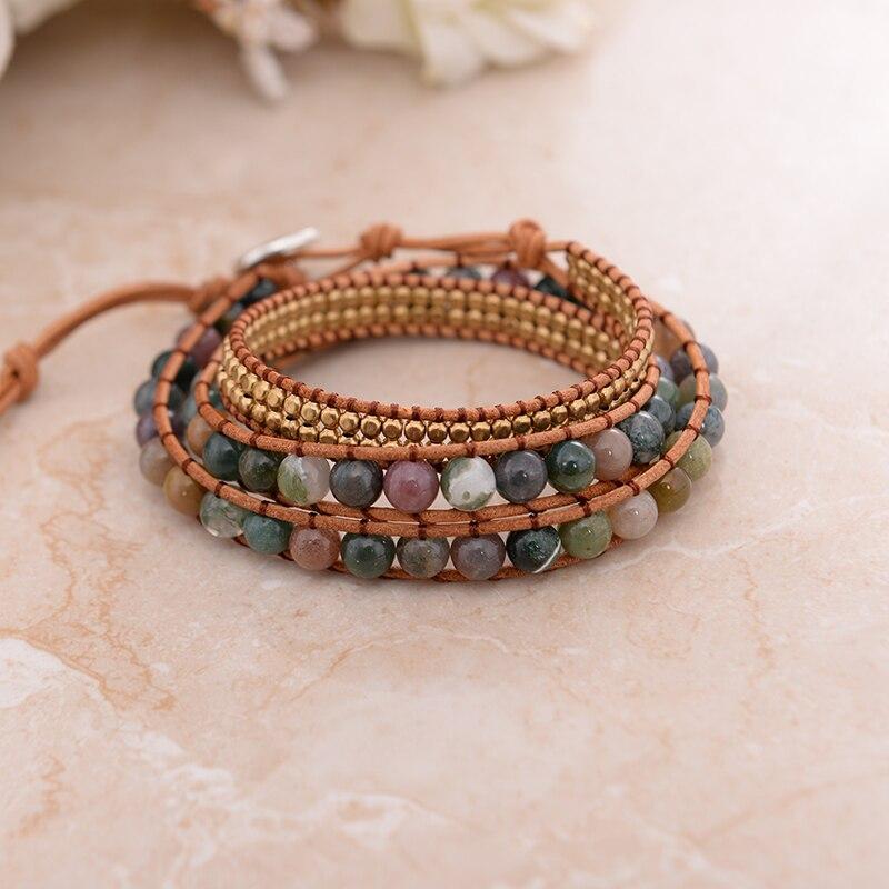 Leather Bloodstone Mala Beads 4