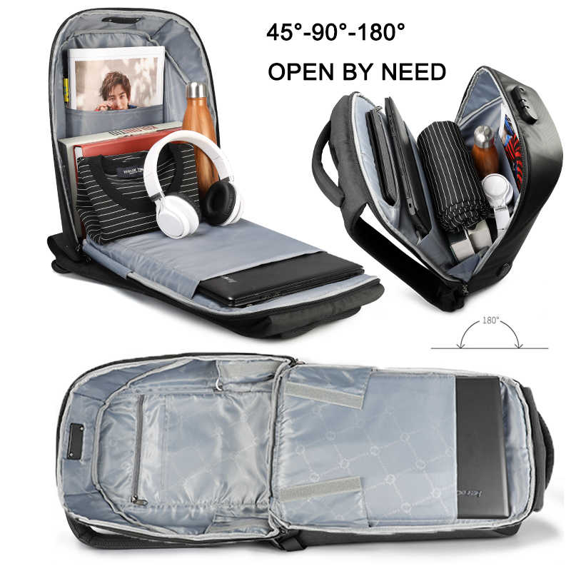 Tigernu ผู้หญิงป้องกันการโจรกรรม TSA ล็อคหญิงแล็ปท็อปกระเป๋าเป้สะพายหลัง USB ชาร์จกระเป๋าโรงเรียนสำหรับวัยรุ่นสาวผู้หญิงกระเป๋าเป้สะพายหลัง Bagpack