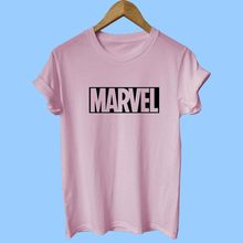 2018 New Fashion MARVEL T-Shirt 13 color Ms Cotton Short Sleeve Casual T Shirt Marvel T Shirts Ms Tops Tshirts Free Shipping(China)