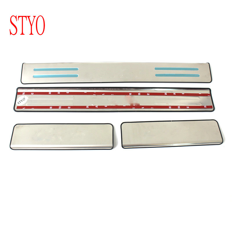 STYO Stainless Steel Door Sill Scuff Plate Welcome Pedal Threshold for <font><b>MazdaS</b></font> <font><b>CX</b></font>-<font><b>5</b></font> <font><b>CX</b></font> <font><b>5</b></font> CX5 2013 2014 <font><b>2015</b></font> <font><b>2016</b></font> Car Accessories image